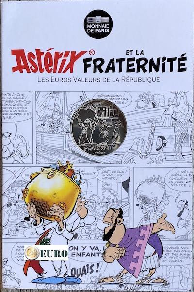 10 euros Francia 2015 - Asterix fraternidad y los juegos olímpicos - en coincard