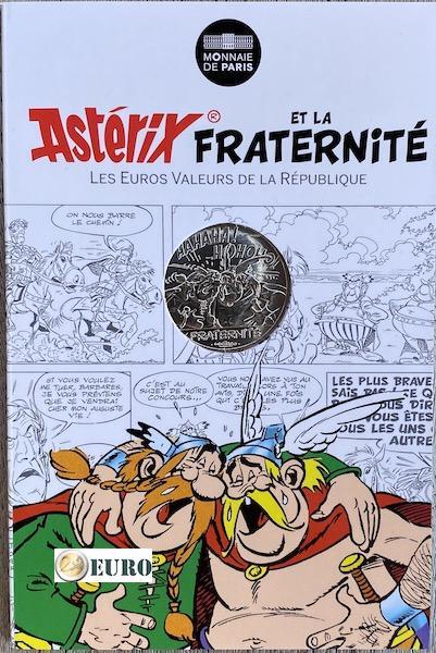 10 euros Francia 2015 - Asterix fraternidad en Bélgica - en coincard