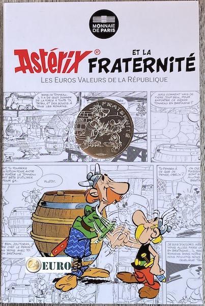 10 euros Francia 2015 - Asterix fraternidad en Bretaña - en coincard