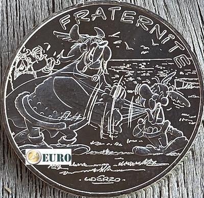10 euros Francia 2015 - Asterix fraternidad y los normandos