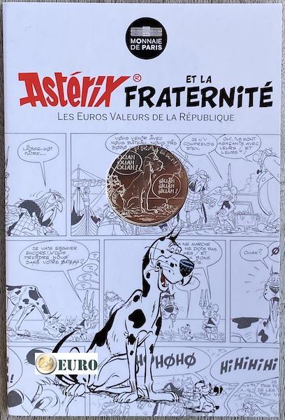 10 euros Francia 2015 - Asterix fraternidad La gran travesía - en coincard