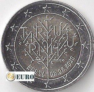 2 euros Estonia 2020 - Tratado de Tartu UNC