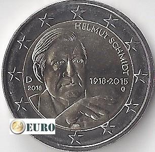 2 euros Alemania 2018 - G Helmut Schmidt UNC