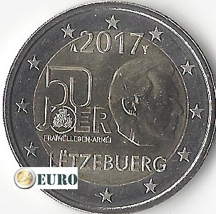 2 euros Luxemburgo 2017 - Servicio Militar Voluntario UNC