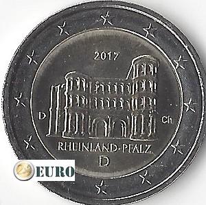 2 euros Alemania 2017 - D Rheinland-Pfalz UNC