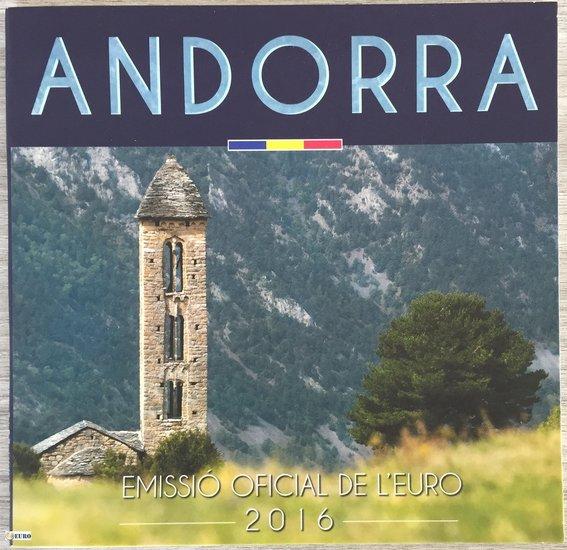 Serie de euro BU FDC Andorra 2016