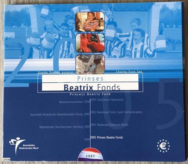 Serie de euro BU FDC Países Bajos 2005 Fondo Beatriz