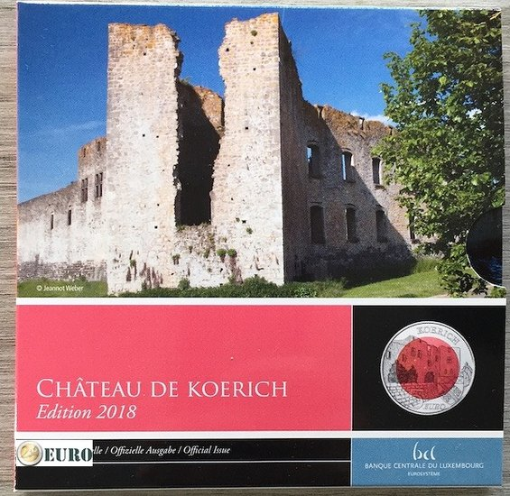 5 euro Luxemburgo 2018 - Castillo de Koerich BE Proof