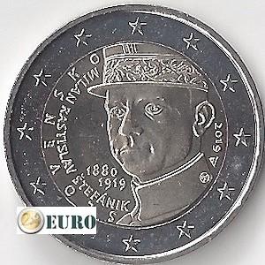 2 euros Eslovaquia 2019 - Milan Rastislav Stefanik UNC