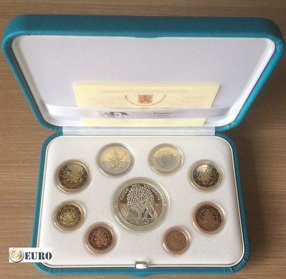 Serie de euro BE Proof Vaticano 2019 + 20 euros plata
