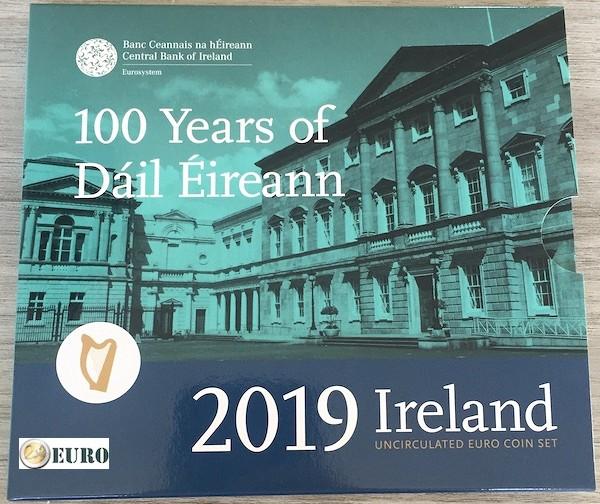 Serie de euro BU FDC Irlanda 2019 + 2 euro Dail
