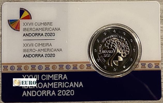2 euros Andorra 2020 - Cumbre iberoamericana BE Proof