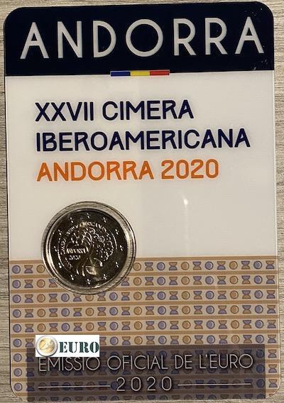 2 euros Andorra 2020 - Cumbre iberoamericana BU FDC Coincard
