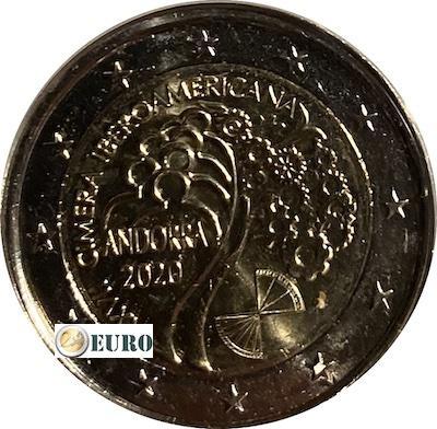2 euros Andorra 2020 - Cumbre iberoamericana UNC