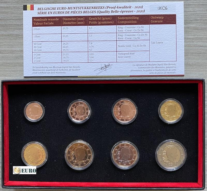 Serie de euro BE Proof Bélgica 2020