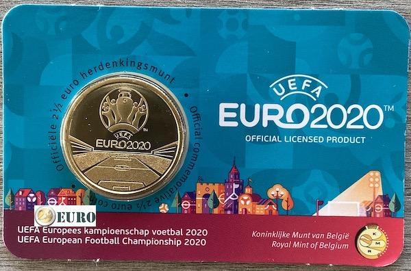 2,50 euros Bélgica 2021 - Eurocopa UEFA EURO 2020 BU FDC Coincard NL