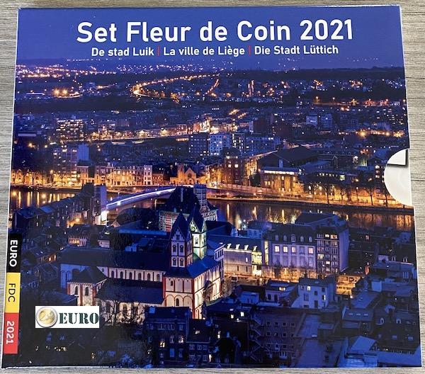 Serie de euro BU FDC Bélgica 2021 Lieja