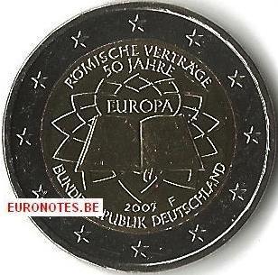 Germany 2007 - 2 euro F Treaty of Rome ToR UNC