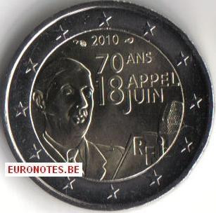 France 2010 - 2 euro Appeal of June 18 UNC