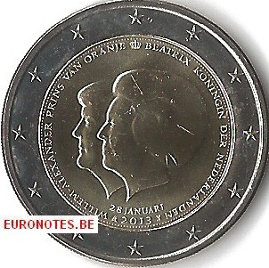 Netherlands 2013 - 2 euro Double portrait UNC