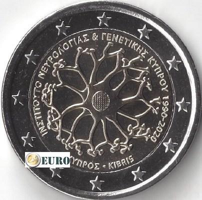 2 euros Chipre 2020 - Instituto Neurología y Genética UNC