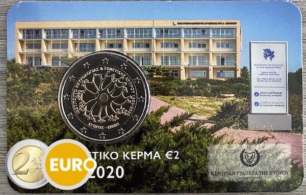 2 euros Chipre 2020 - Instituto Neurología y Genética BU FDC Coincard