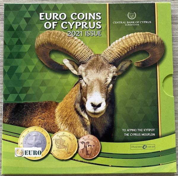 Serie de euro BU FDC Chipre 2021 - Muflón