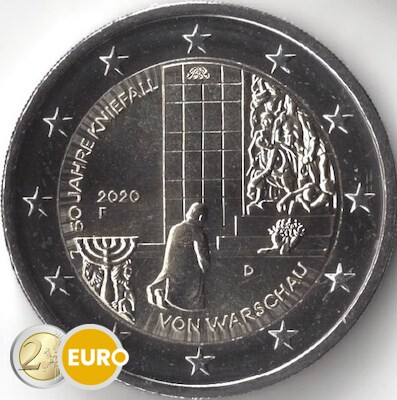 2 euros Alemania 2020 - F Genuflexión Varsovia UNC