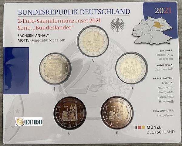 2 euros Alemania 2021 - ADFGJ Sajonia-Anhalt BU FDC