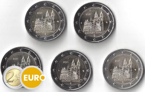 2 euros Alemania 2021 - ADFGJ Sajonia-Anhalt UNC