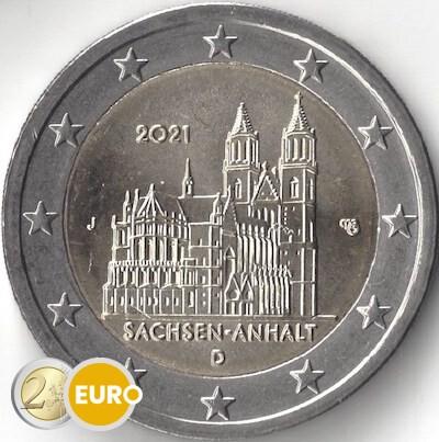 2 euros Alemania 2021 - J Sajonia-Anhalt UNC