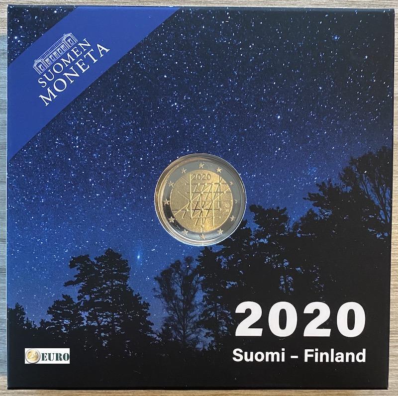2 euros Finlandia 2020 - Universidad de Turku BE Proof