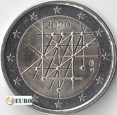 2 euros Finlandia 2020 - Universidad de Turku UNC