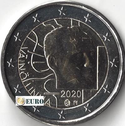 2 euros Finlandia 2020 - Vaino Linna UNC