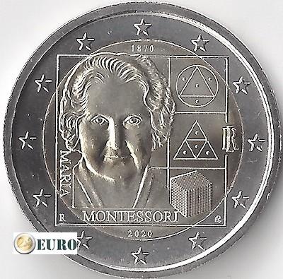 2 euros Italia 2020 - 150 años Maria Montessori UNC