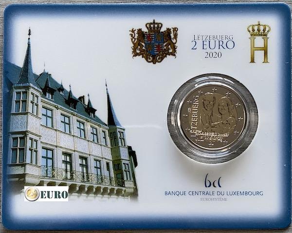 2 euros Luxemburgo 2020 - Carlos de Luxemburgo BU FDC Coincard