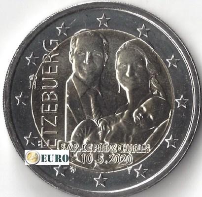 2 euros Luxemburgo 2020 - Carlos de Luxemburgo UNC