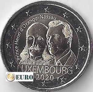 2 euros Luxemburgo 2020 - Enrique de los Países Bajos UNC