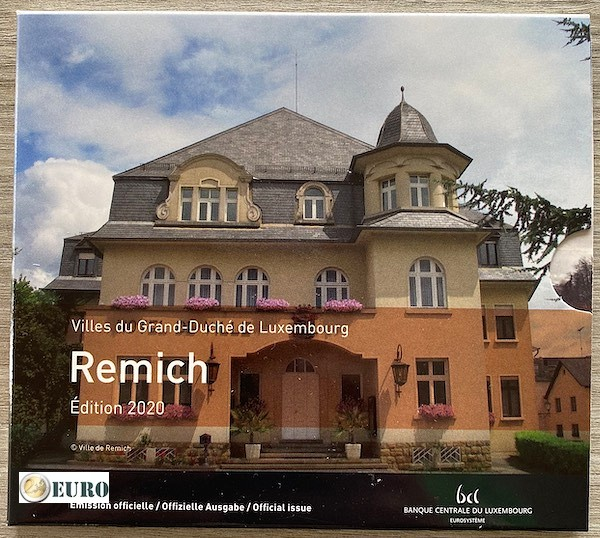 Serie de euro BU FDC Luxemburgo 2020 Remich + 2 euros Enrique