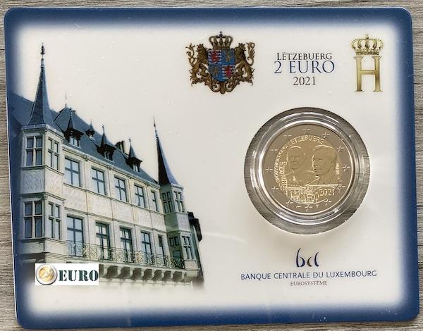 2 euros Luxemburgo 2021 - 100 años nacimiento Juan BU FDC Coincard