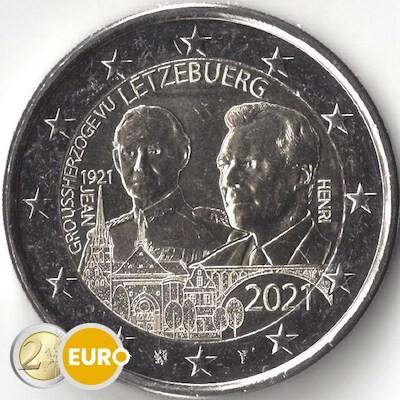 2 euros Luxemburgo 2021 - 100 años nacimiento Juan UNC