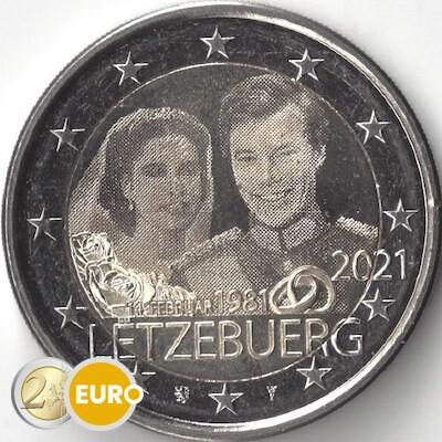 2 euros Luxemburgo 2021 - 40 años bodas Enrique UNC foto