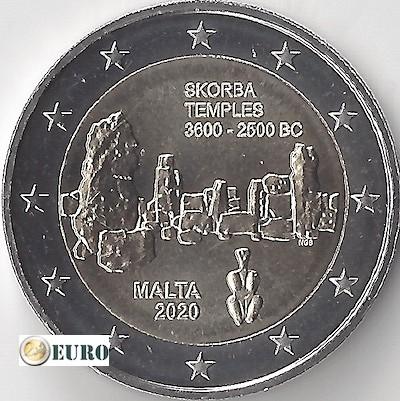 2 euros Malta 2020 - Templo Skorba UNC