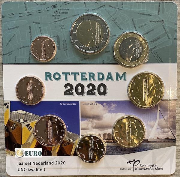 Serie de euro UNC Países Bajos 2020 Rotterdam