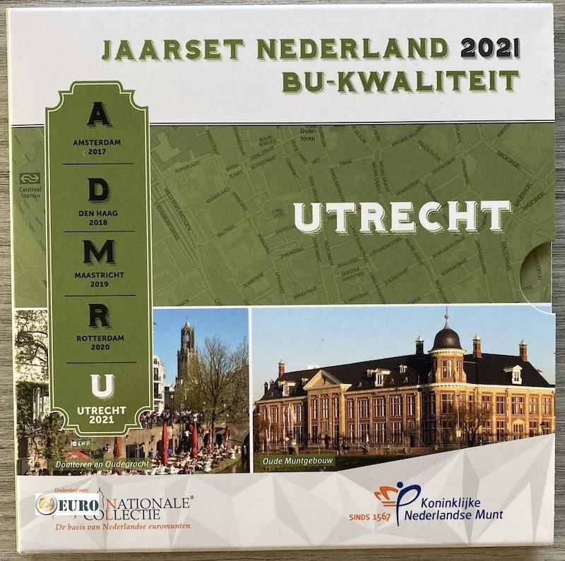 Serie de euro BU FDC Países Bajos 2021 Utrecht