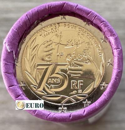Rollo 2 euros Francia 2021 - 75 años UNICEF