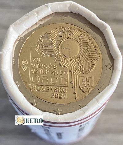 Rollo 2 euros Eslovaquia 2020 - Ingreso a la OCDE