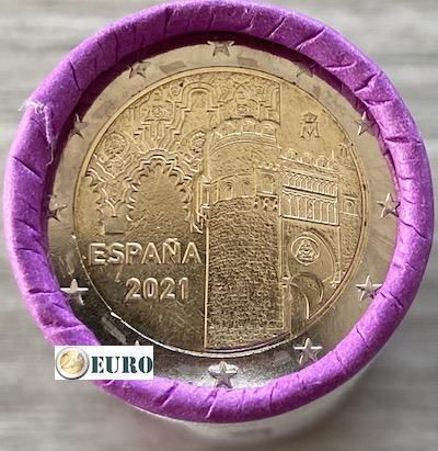 Rollo 2 euros España 2021 - Ciudad Histórica de Toledo