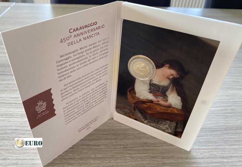 2 euros San Marino 2021 - Caravaggio BU FDC