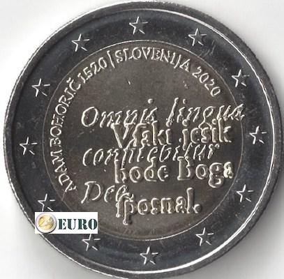 2 euros Eslovenia 2020 - Adam Bohoric UNC